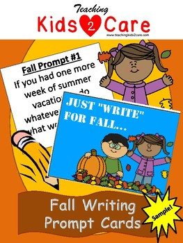 Fall Writing Prompt Cards - Sample