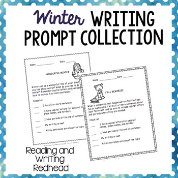Winter Writing Prompt Collections - NO PREP - {Common Core Aligned}