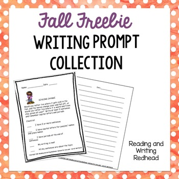 Fall Writing Prompt FREEBIE Preview