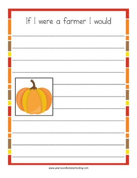 Fall Writing Prompt Notebooking Pages