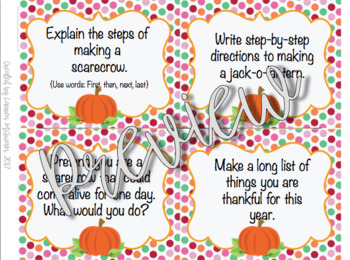Fall Writing Prompt Task Cards