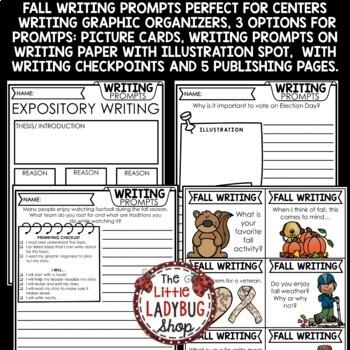 Fall Writing Prompts 2nd Grade, 3rd Grade & 4th Grade