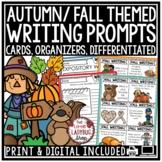 Digital November & Fall Writing Prompts 3rd Grade, 4th Grade Autumn Activities