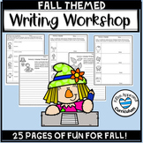 Fall Writing Prompts 3rd 4th and 5th Grade Printables