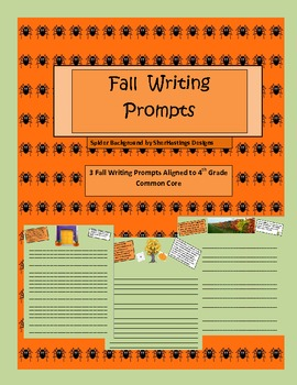 Fall Writing Prompts Aligned to Common Core