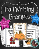 Fall Writing Prompts - Fall Themed Writing Prompts Journal (Grades K-2)