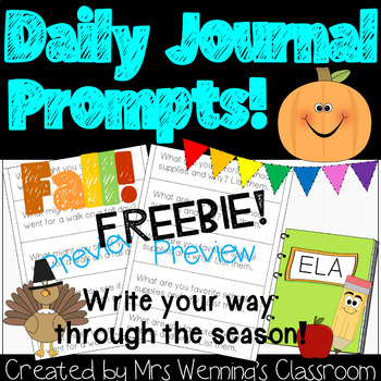 Fall Writing Prompts FREEBIE!