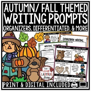 Fall Word Work Activities & Autumn Writing Prompts BUNDLE