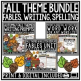 Fall Digital Word Work Activities, Aesop's Fables & Fall W