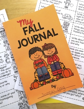 Fall Writing Prompts & Fall Writing Journal - Full Page or Mini Book