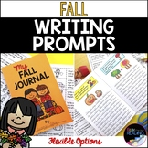 Fall Writing Prompts & Fall Writing Journal - Full Page or