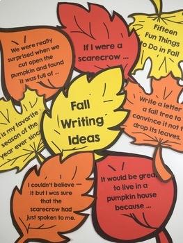 Fall Writing Prompts Freebie