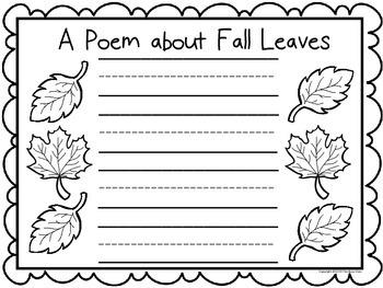 Fall Writing Prompts (Kindergarteners)