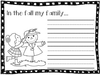 Fall Writing Prompts (Kindergarteners)