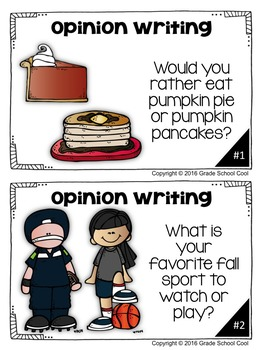 Fall Writing Prompts: Opinion, Informative, Narrative: K-2