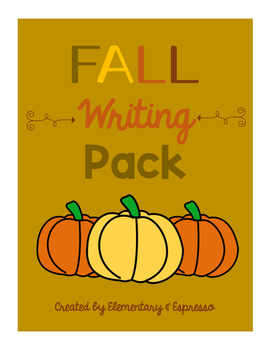 Fall Writing Prompts Pack