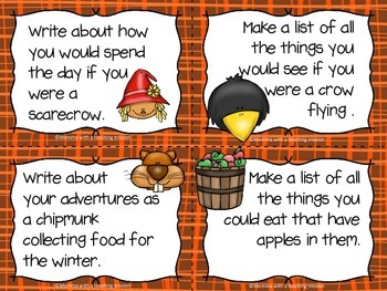 Fall Writing Prompts & Paper