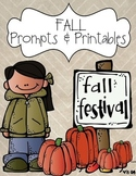 Fall Writing Prompts & Printables {Fall, Autumn, Pumpkin and Thanksgiving}