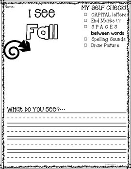 Fall Writing Prompts (Series)