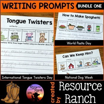 Fall Writing Prompts Worksheet Bundle