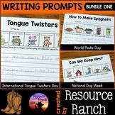 Fall Writing Prompts Worksheet Bundle