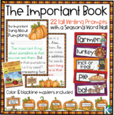 Fall Writing Prompts, Writing Paper and Word Wall for your