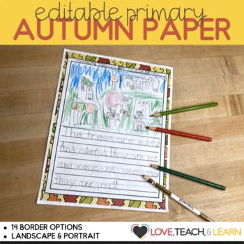 Fall Writing Prompts - Kindergarten / First Grade