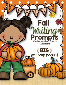 Fall Writing Prompts and Center