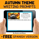 Fall Writing Prompts for Google Classroom - Distance Learning