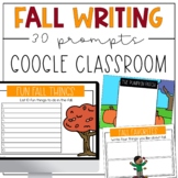 Fall Writing Prompts for Google Slides or Google Classroom