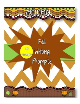 Fall Writing Prompts for Grades 1-3 Common Core Aligned