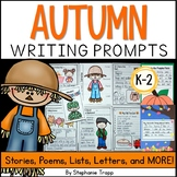 Fall Writing Prompts for Kindergarten, First Grade and Sec