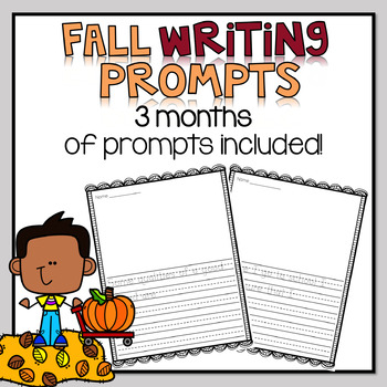 Fall Writing Prompts with Sentence Frames * BUNDLE *