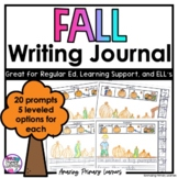 Fall Differentiated Writing Prompts Journal with Sentence