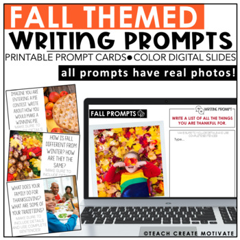 Fall Writing Prompts {with real photos}