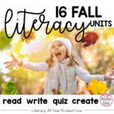 Reading and Fluency with Coordinating Writing and Art - Literacy All Year- Fall
