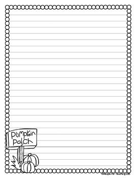 Fall Writing Stationery