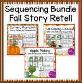 Fall Writing: Story Retell and Sequencing Worksheets and Activities Bundle