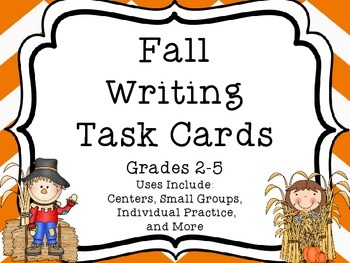 Fall Writing Task Cards