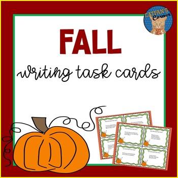 Fall Writing Task Cards