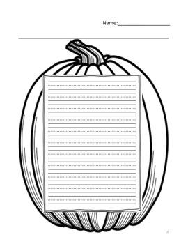 Fall Writing Template
