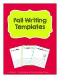 Fall Writing Template Freebie