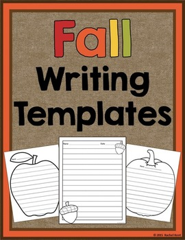 Fall Writing Templates