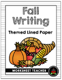 Fall Writing Themed Lined Paper Set