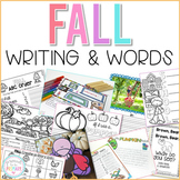 Fall Writing and Word Work Activities