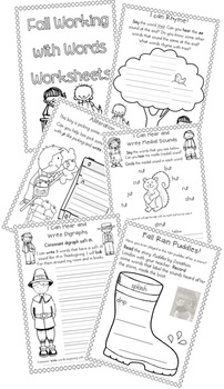 Fall Activities Worksheets