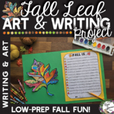 Fall Leaf Descriptive Writing and Art Project