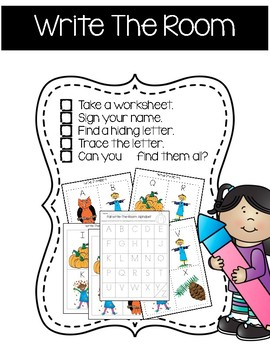 Fall Writing and Literacy Activities for Pre Kindergarten