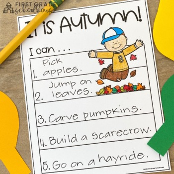 Fall Writing for Kindergarten
