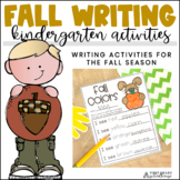 Fall Writing for Kindergarten
